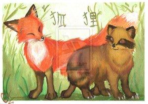kitsune_y_tanuki_by_shivita-d12bmdf