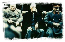 Churchill, Roosevelt y Stalin reunidos en Yalta. (imagen 01)