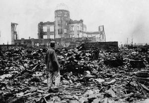 La ciudad de Hiroshima después del ataque nuclear. (Imagen 02).