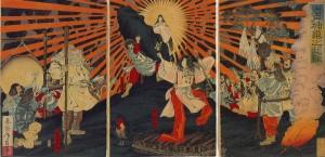 Amaterasu después de su encierro en la cueva.