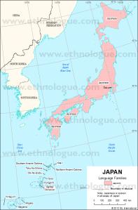 Imagen 03: mapa lingüístico de Japón.