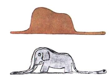 Imagen 03: La boa y el elefante.