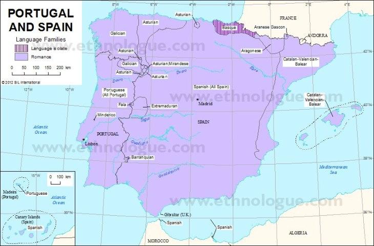 Mapa Lingüístico de la Península Ib